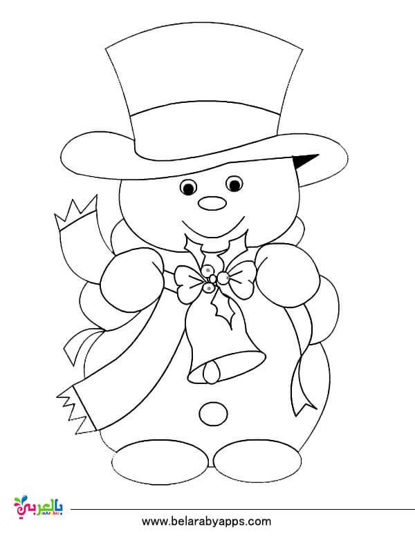 رسومات مفرغة للتلوين عن الشتاء لاطفال الروضة