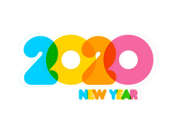 تحميل خلفيات 2020 hd 2020 new year white background