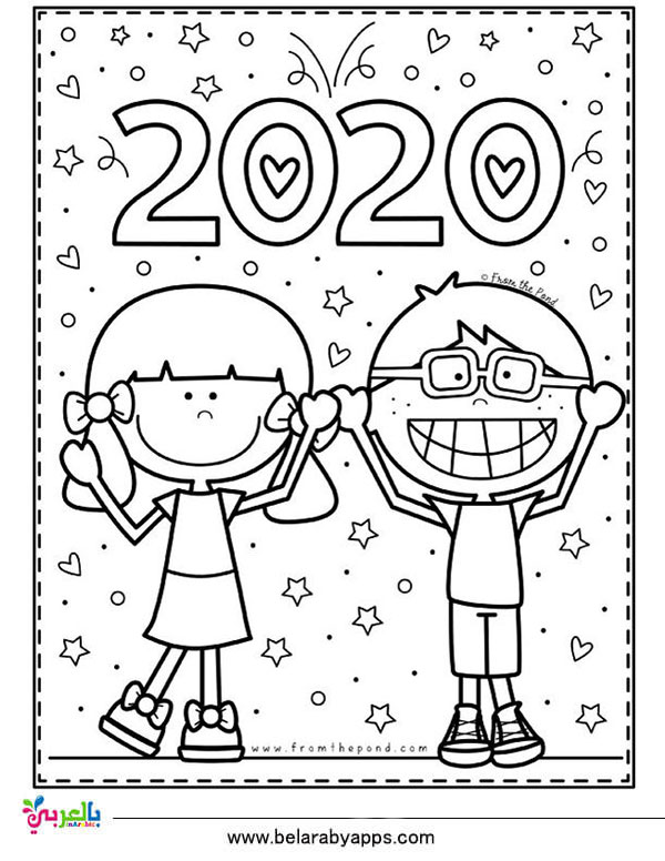 Top 10 new year 2020 coloring pages free printable ...