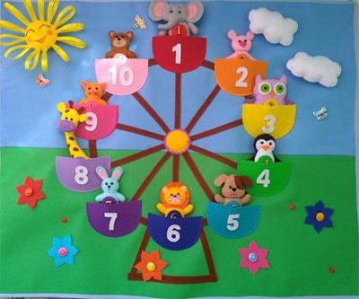 اشكال وسائل تعليمية للارقام لرياض الاطفال