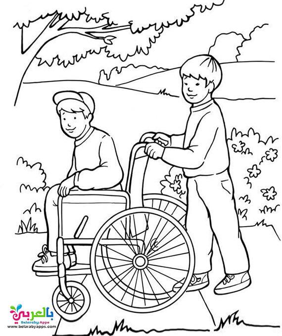 رسم اطفال عن ذوي الاحتياجات الخاصة