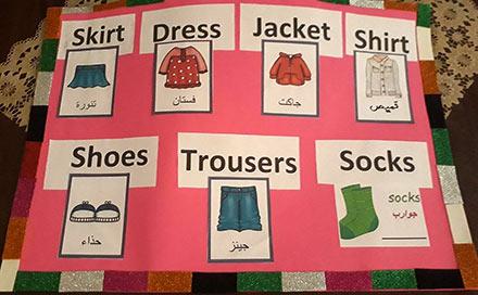 تعليم اسماء الملابس بالانجليزية