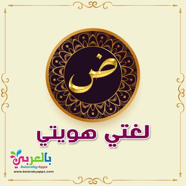 عبارات عن اللغة العربية للاطفال - صورة لغتي هويتي