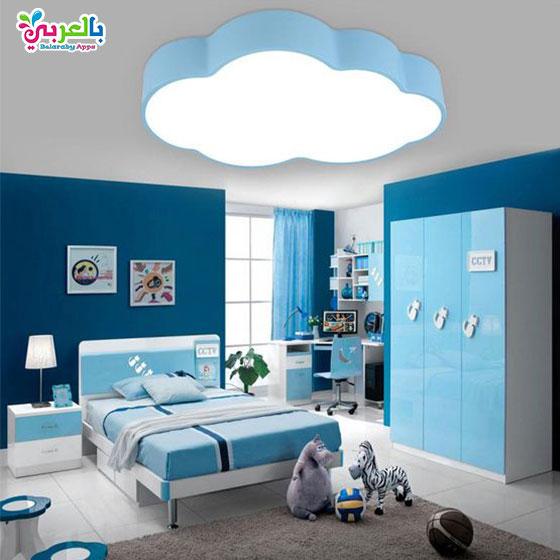 غرف نوم اطفال بسرير ودولاب كلاسيك