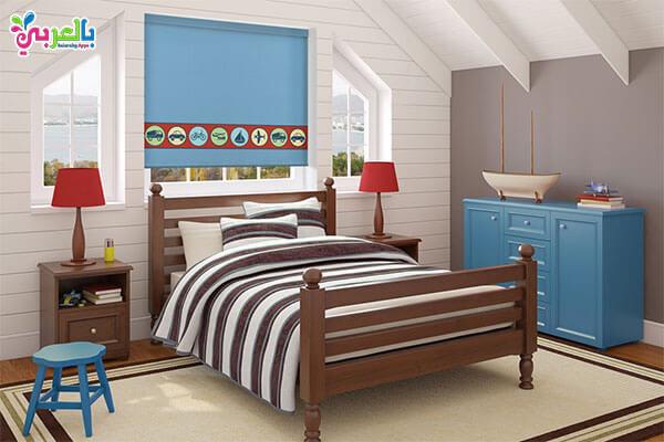 غرف نوم كاملة باللون البني