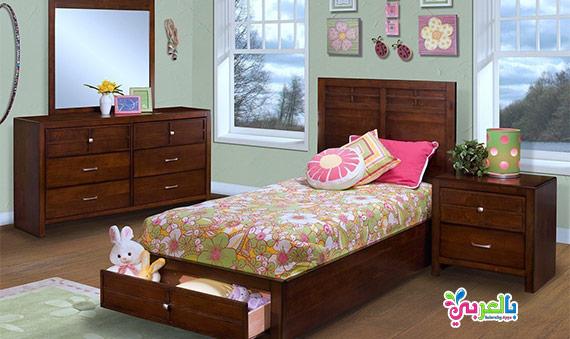 اجمل موديلات غرف نوم اطفال لون بني