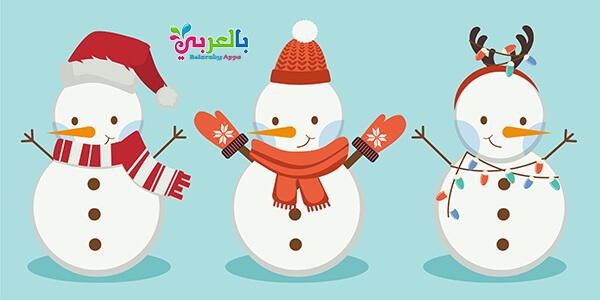 رسومات كرتون رجل الثلج للأطفال - الشتاء The snowman new year 2020 poster for kids