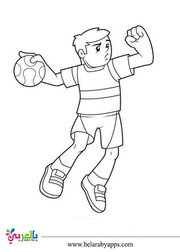 الالعاب الرياضية للتلوين للاطفال