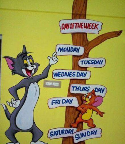 تعليم ايام الاسبوع انجليزي