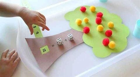 لعبة منتسوري تعليم الجمع للاطفال