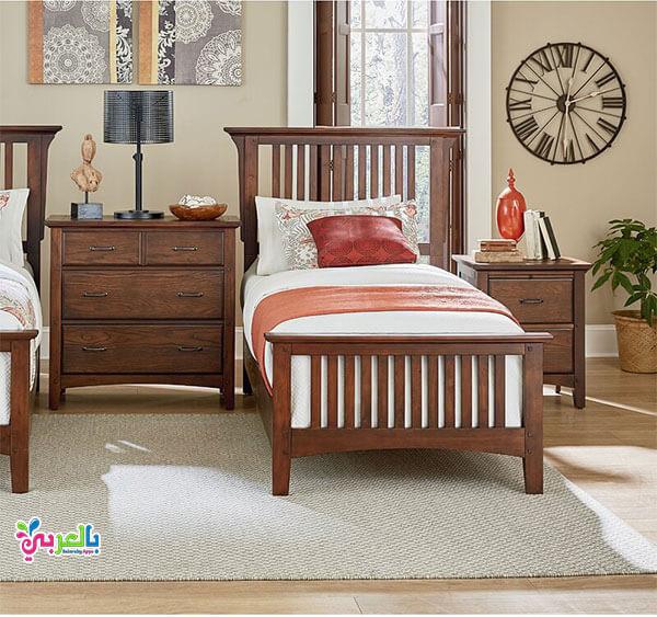 غرف نوم لون عسلي غامق للاطفال 2020