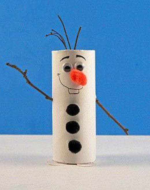 فكرة رجل الثلج من بكر المناديل