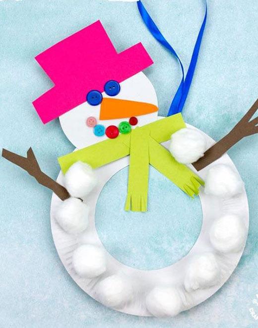 أجمل 10 افكار كرافت لصنع رجل الثلج