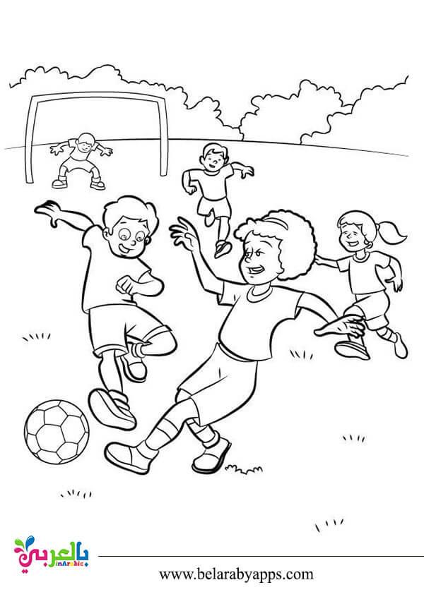 رسومات عن الألعاب الرياضية للتلوين للأطفال