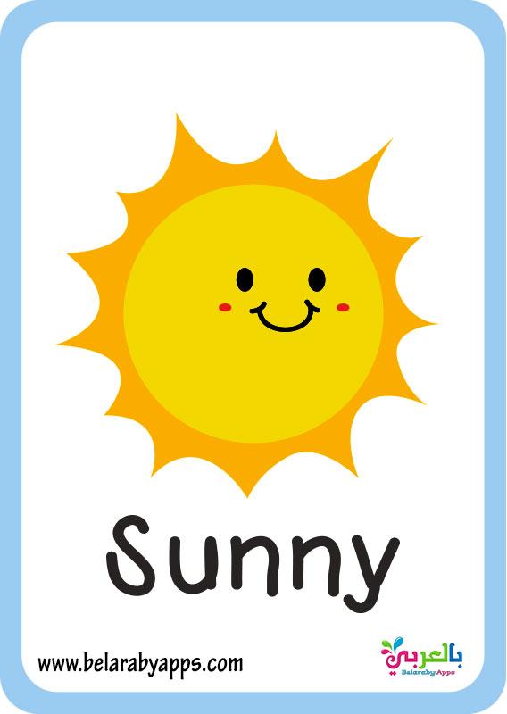 بطاقات احوال الطقس لرياض الاطفال