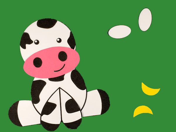Easy Cow template for preschool craft