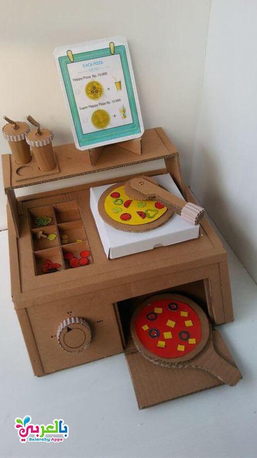 العاب اطفال طبخ من علب الكرتون