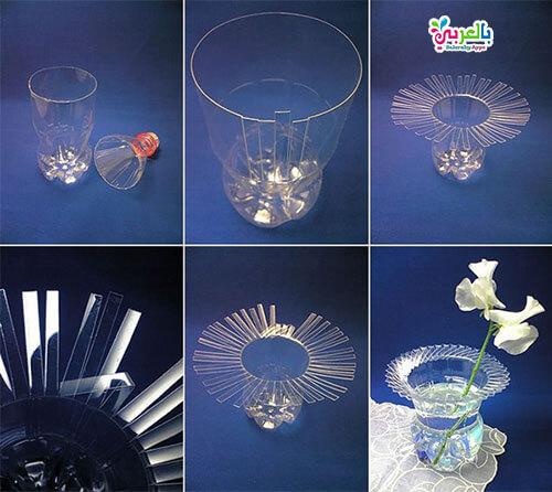 اعمال فنية بالزجاجات البلاستيك الفارغة - طرق اعادة تدوير الزجاجات البلاستيكية
