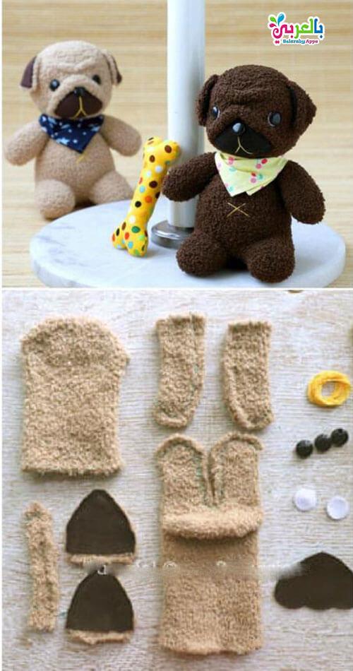 اعادة تدوير الجوارب القديمة - اصنعي بنفسك لعب أطفالك من الجوارب القديمة