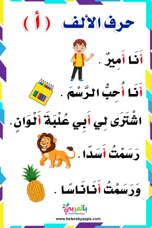 قصص مصورة عن الحروف العربية للاطفال