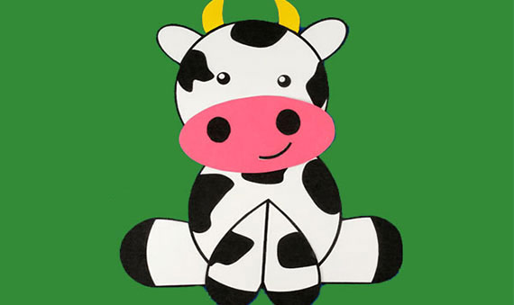 Preschool craft cow: free template cow printable