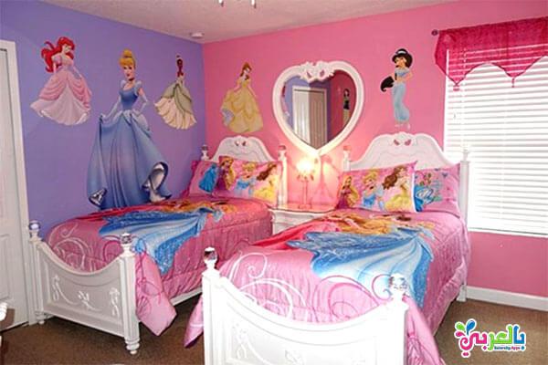 غرف نوم للبنات اميرات ديزني