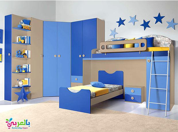 غرف نوم اطفال سرير دورين ودولاب 2020
