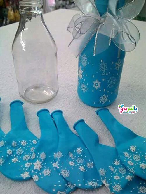 استخدام زجاجات المياه الغازية الفارغة