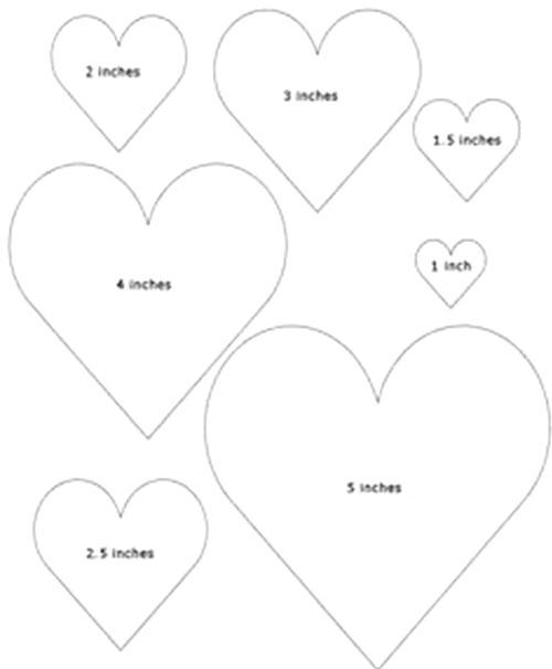 شكل قلب جاهز للطباعة - صنع قلوب من الورق للزينة والديكور