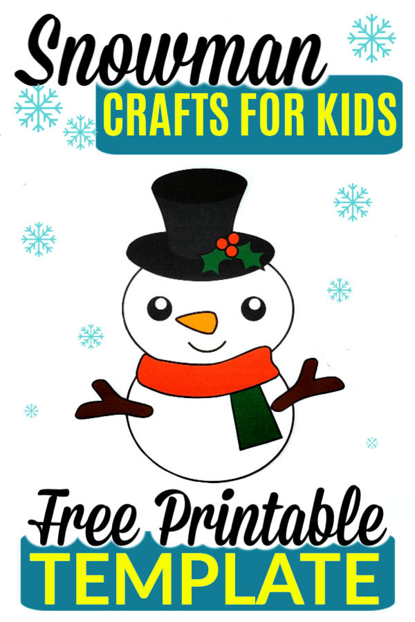 Printable snowman craft with free template pdf