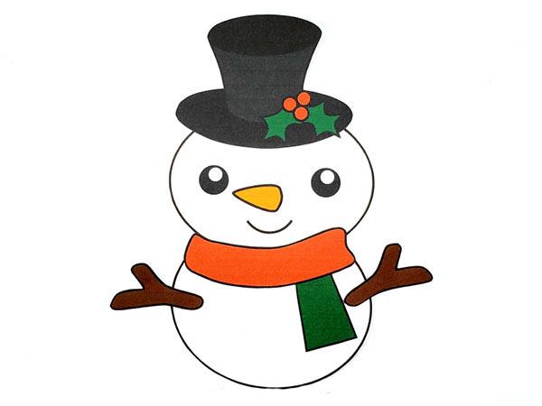 لعبة صنع رجل الثلج من الورق - Build a snowman printable