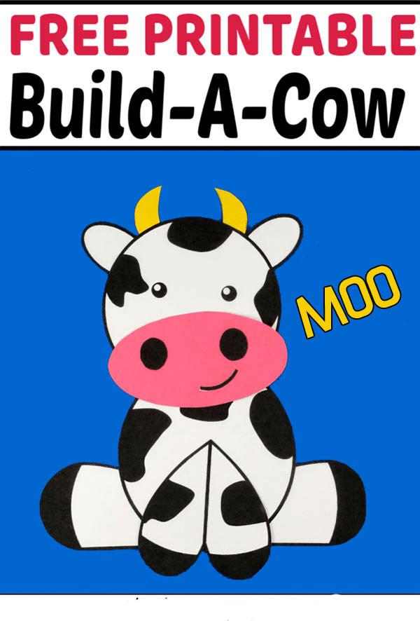 Cute Farm Craft Cow for kids