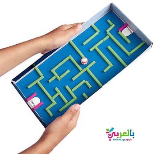 لعبة متاهة العاب يمكن صنعها لطفلك بالورق المقوى