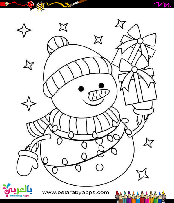 winter snowman coloring sheets for toddler
