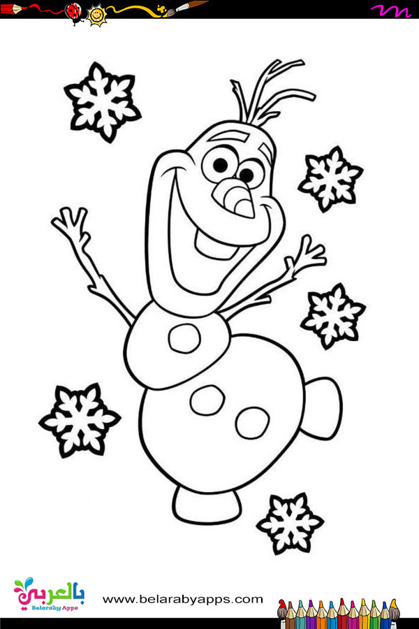 Olaf from Frozen coloring page | Free Printable