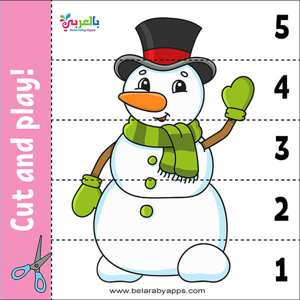 Learning Numbers Cut and Play game for kids