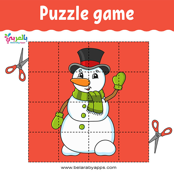 snowman puzzle games preschool ألعاب تعليمية للأطفال