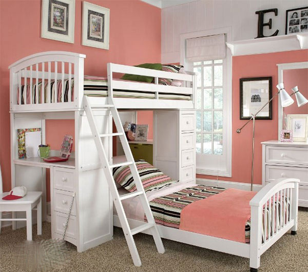 الوان غرف نوم اطفال بسرير دورين