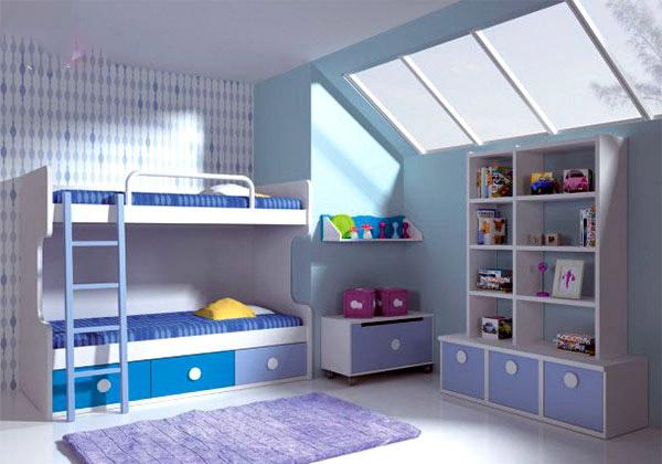 الوان اوض اطفال سرير بدورين