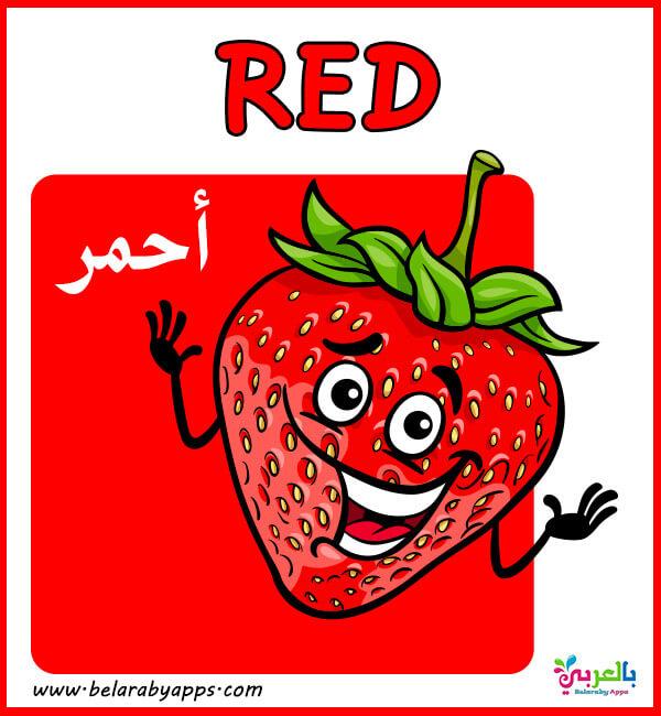 بطاقات تعليمية لاطفال الروضة - color flashcards for kindergarten pdf
