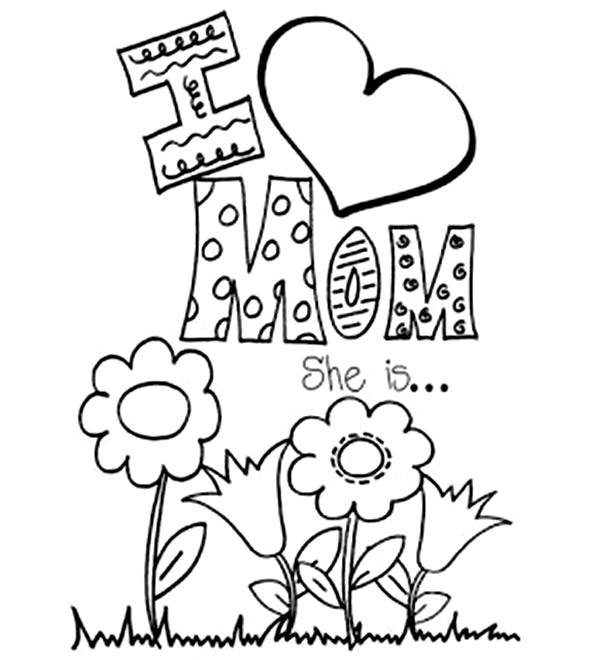 Coloring pages mothers day flowers - free printable mothers day coloring pages