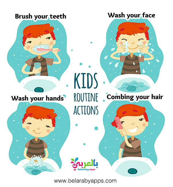 kids routine actions