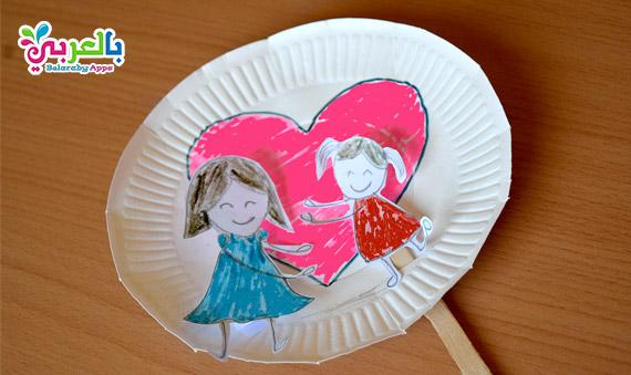 فكرة هدية جميلة توزيعات للروضة يوم الأم - Mother`s Day Love Crafts For Kids