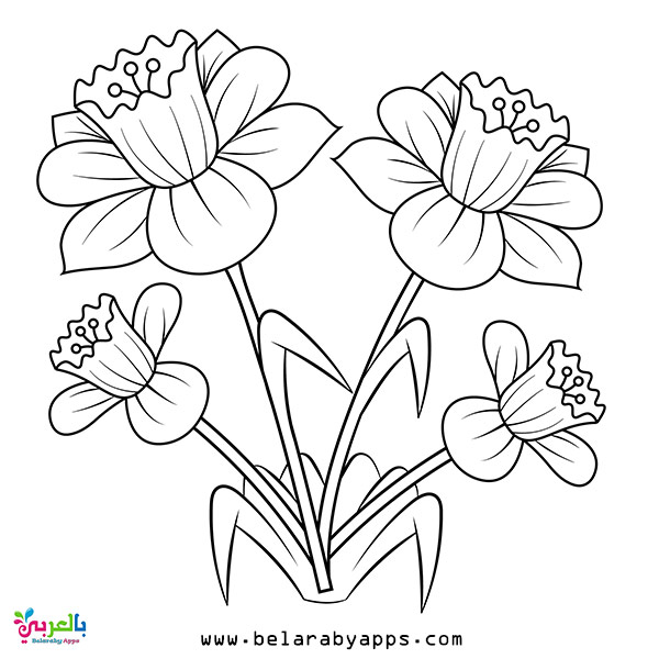 Free Spring Coloring Pages For Toddlers Belarabyapps