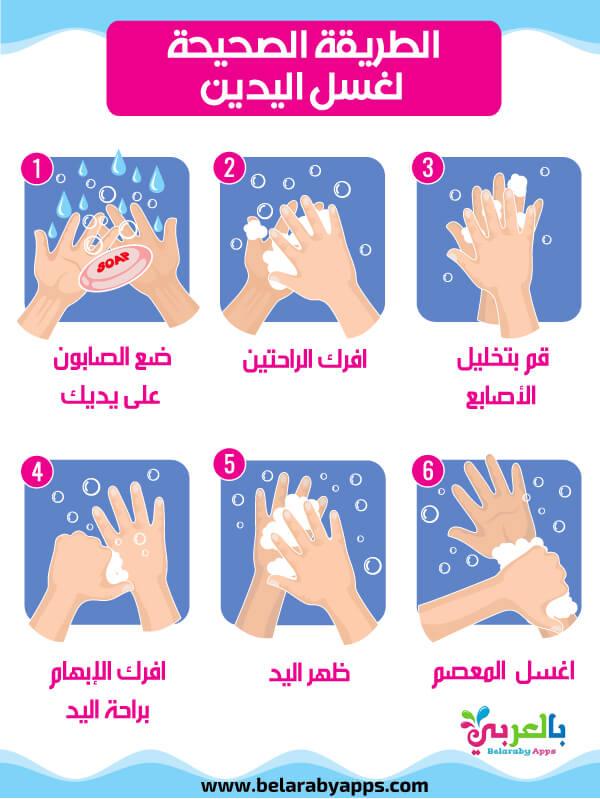 الطريقة الصحيحة لغسل اليدين للأطفال بالصور
