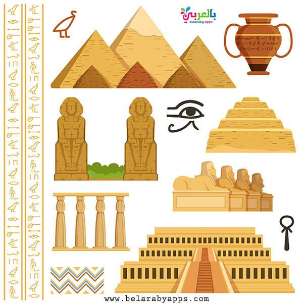 رسم اهم المعالم السياحية في مصر