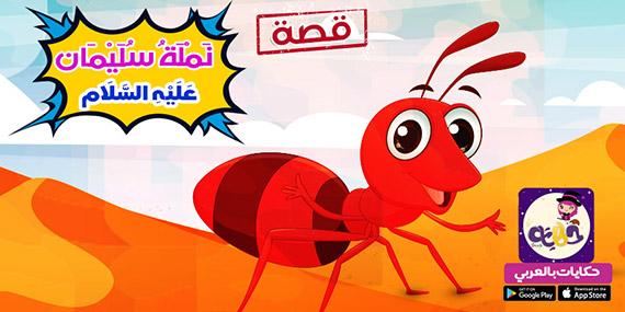 قصة نملة سليمان للاطفال مصورة
