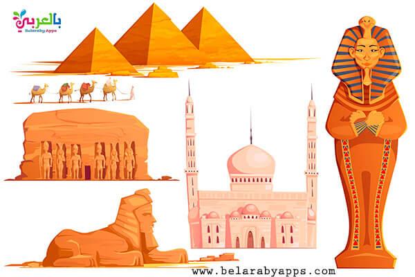 صور رسومات عن الحضارة المصرية