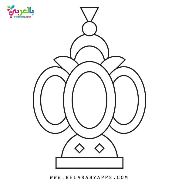 رسومات تلوين فوانيس رمضان 2020 - Ramadan lantern coloring pages printable