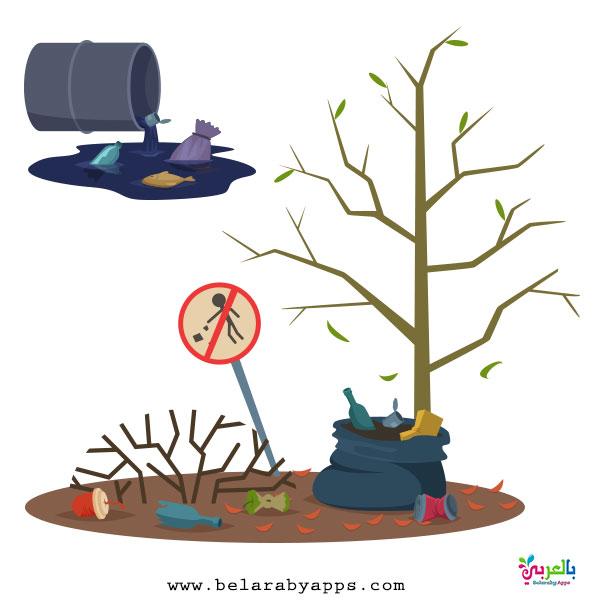 رسومات عن التلوث البيئي بالصور - لافتات ارشادية للحفاظ على البيئة